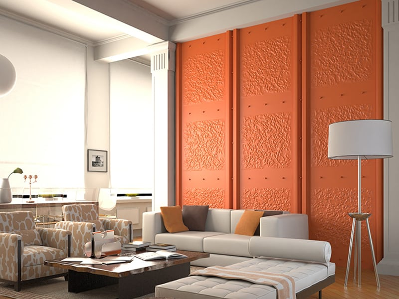wall panels in living room