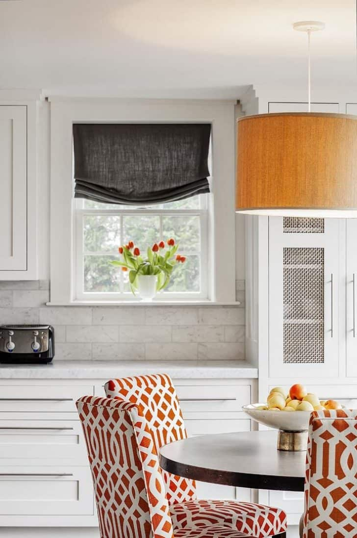 warm orange kitchen  Brighten Up Your Home With An Orange Kitchen