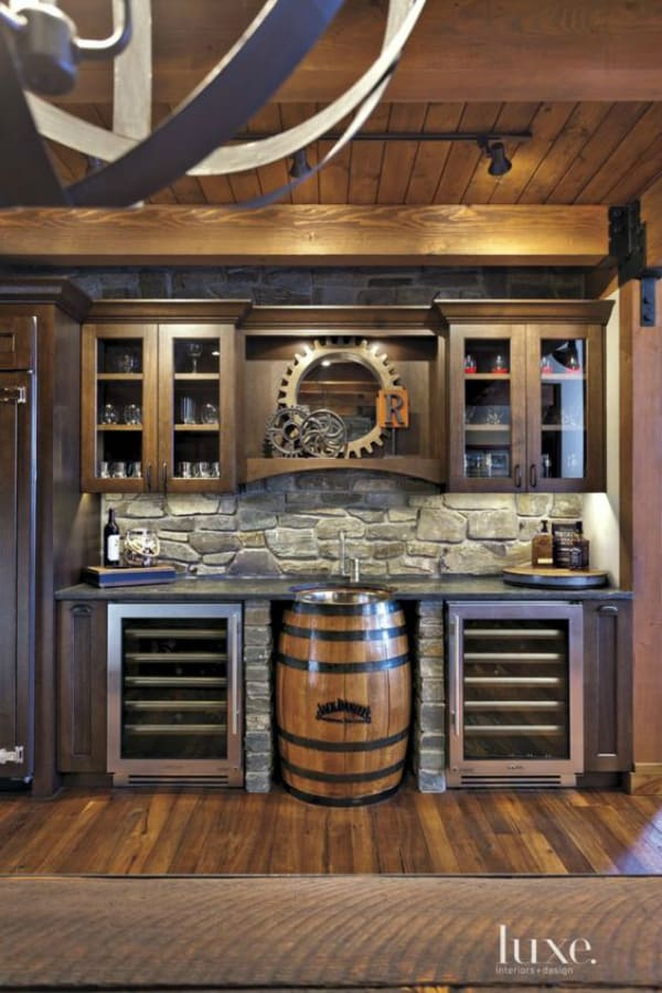 wet bar basement with barrrel-2