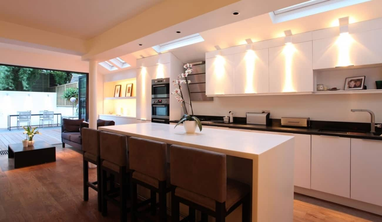 LED lights kitchen
