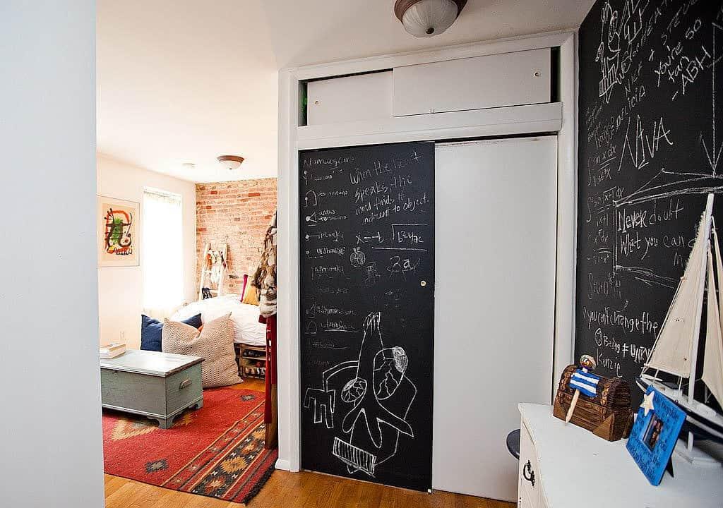 bedroom chalkboard walls