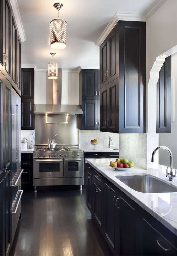 black-cabinets-gallery-kitchen