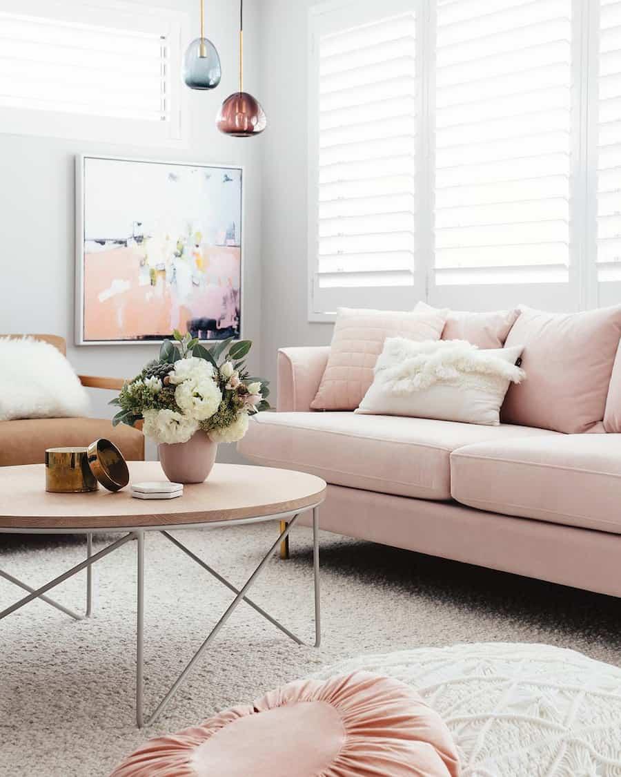 blush pink table