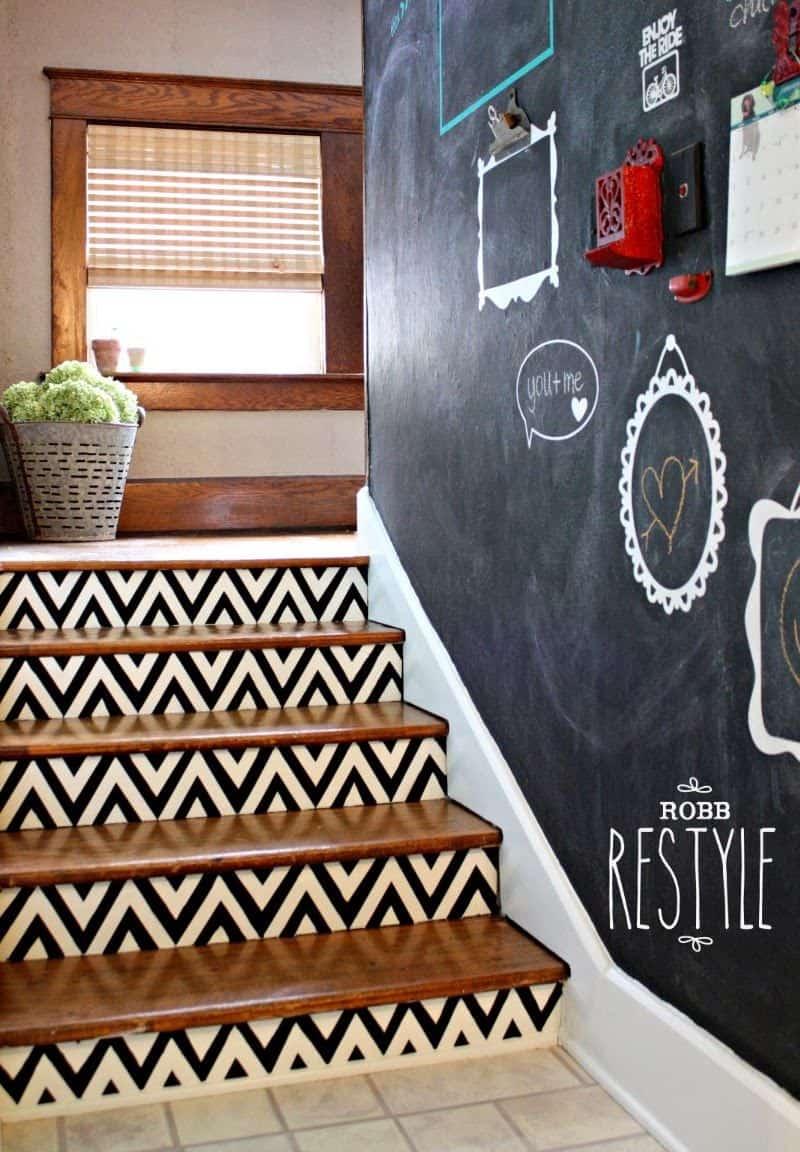 chalkboard stairway