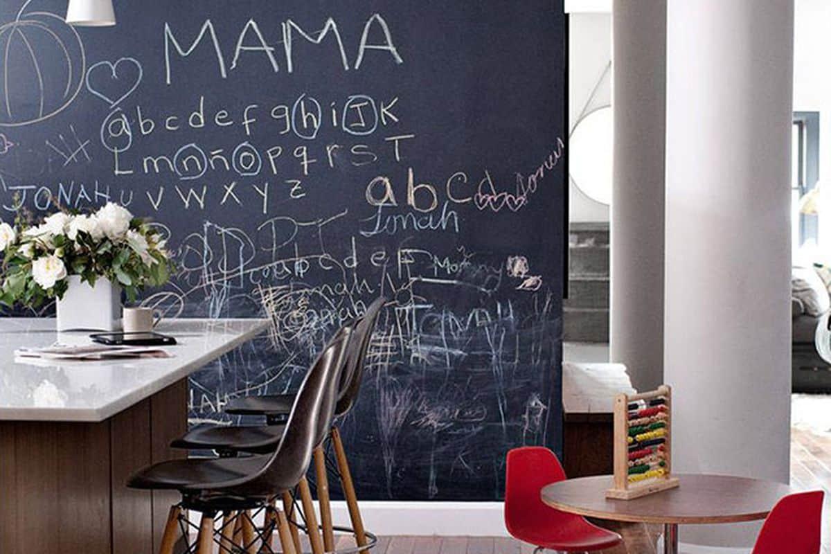chalkboard-wall-modern-kitchen-kids-table