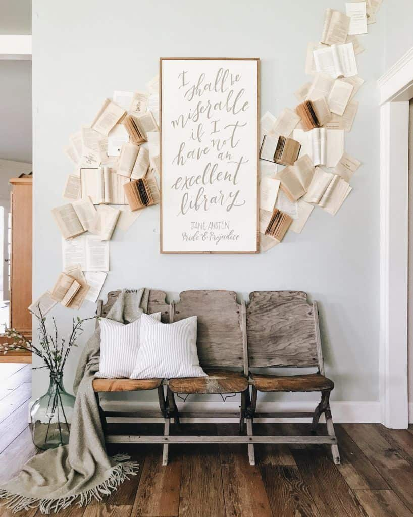 fall decor with books