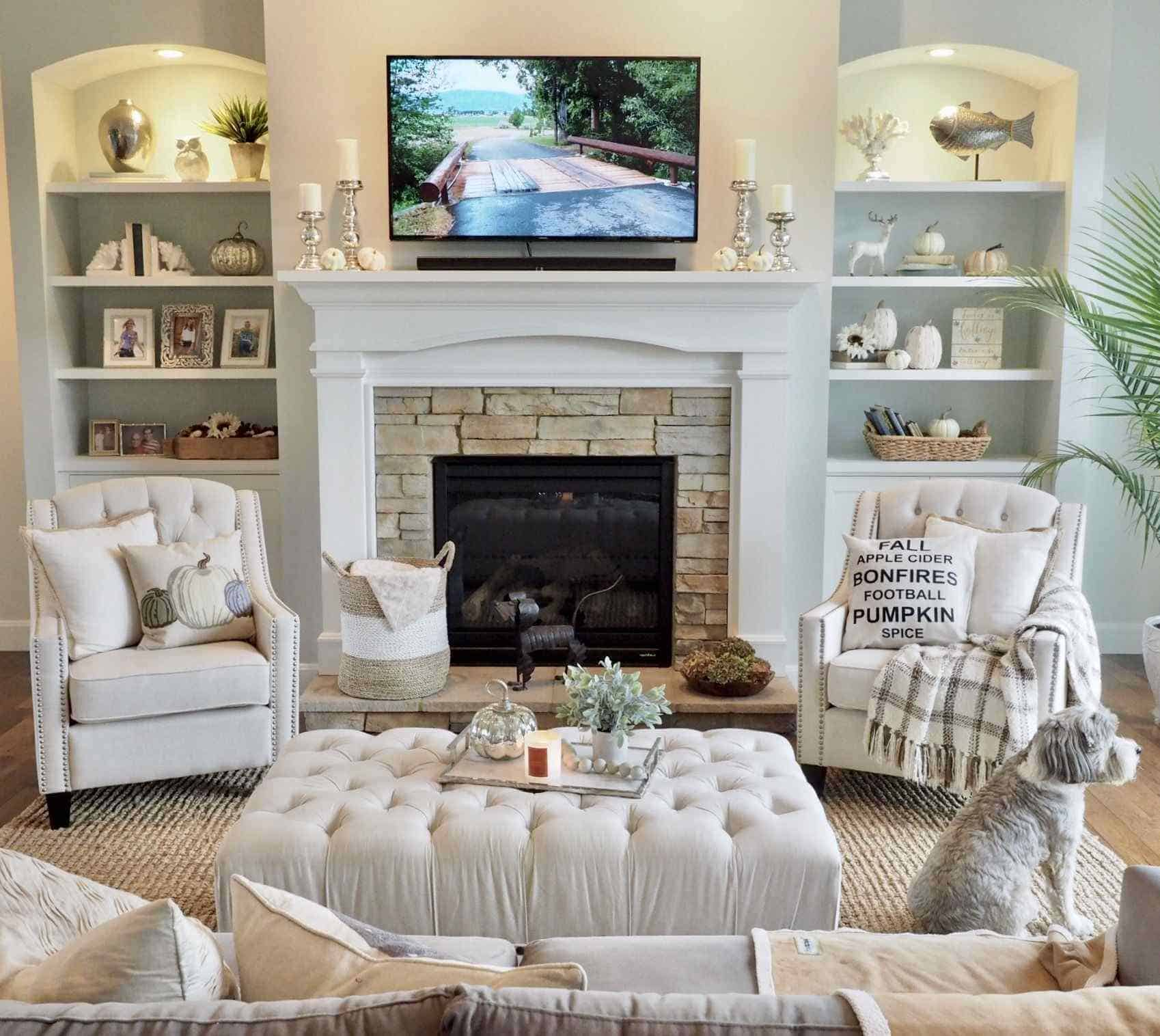 Neutral Fall Decor living rooms Luxury Neutral home decor fall home decor white pumpkins living room