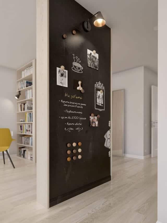hallway chalkboard wall