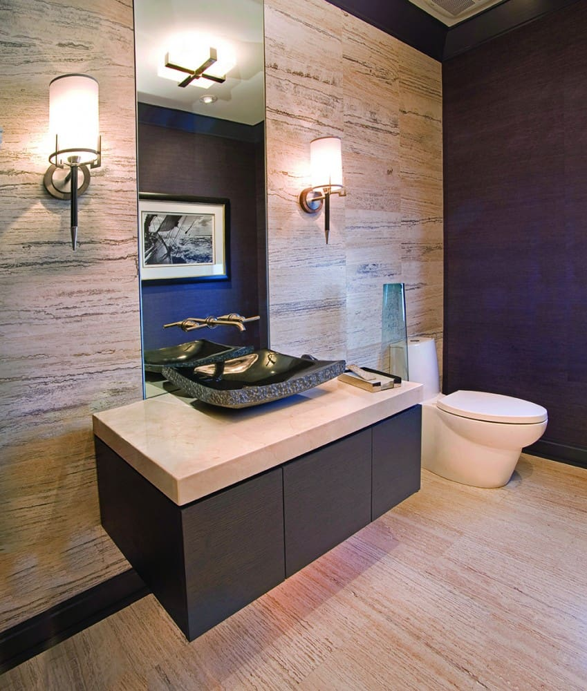 minimalist powder room