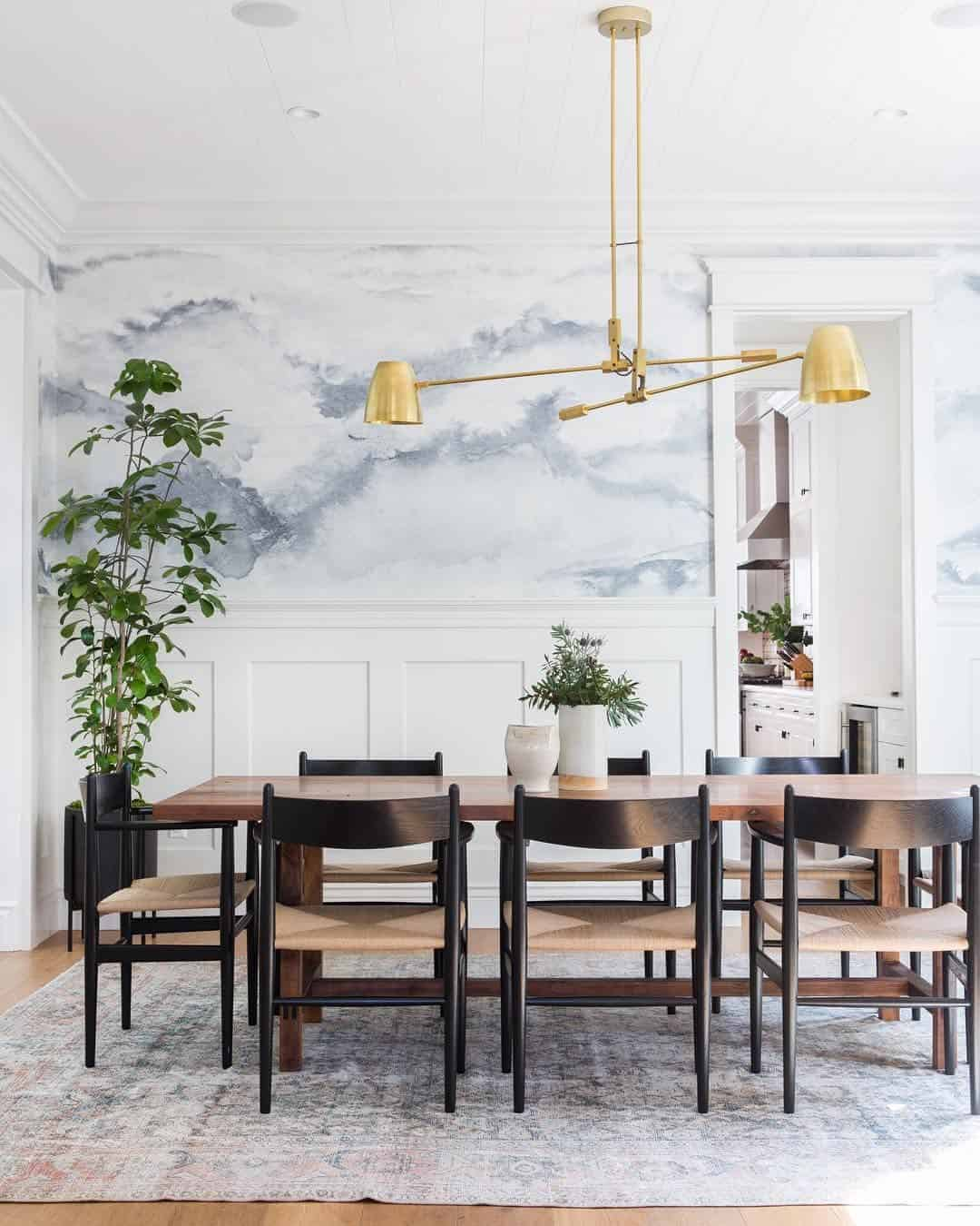 pastel and brass decor