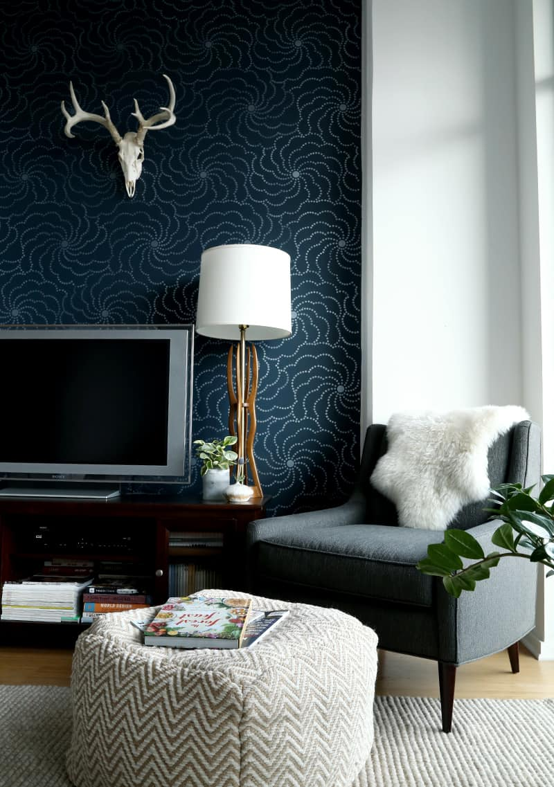 pattern and print living rooom