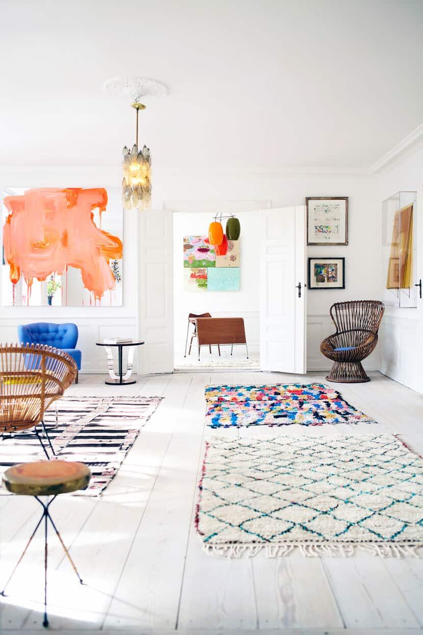 patterns in open floor plan