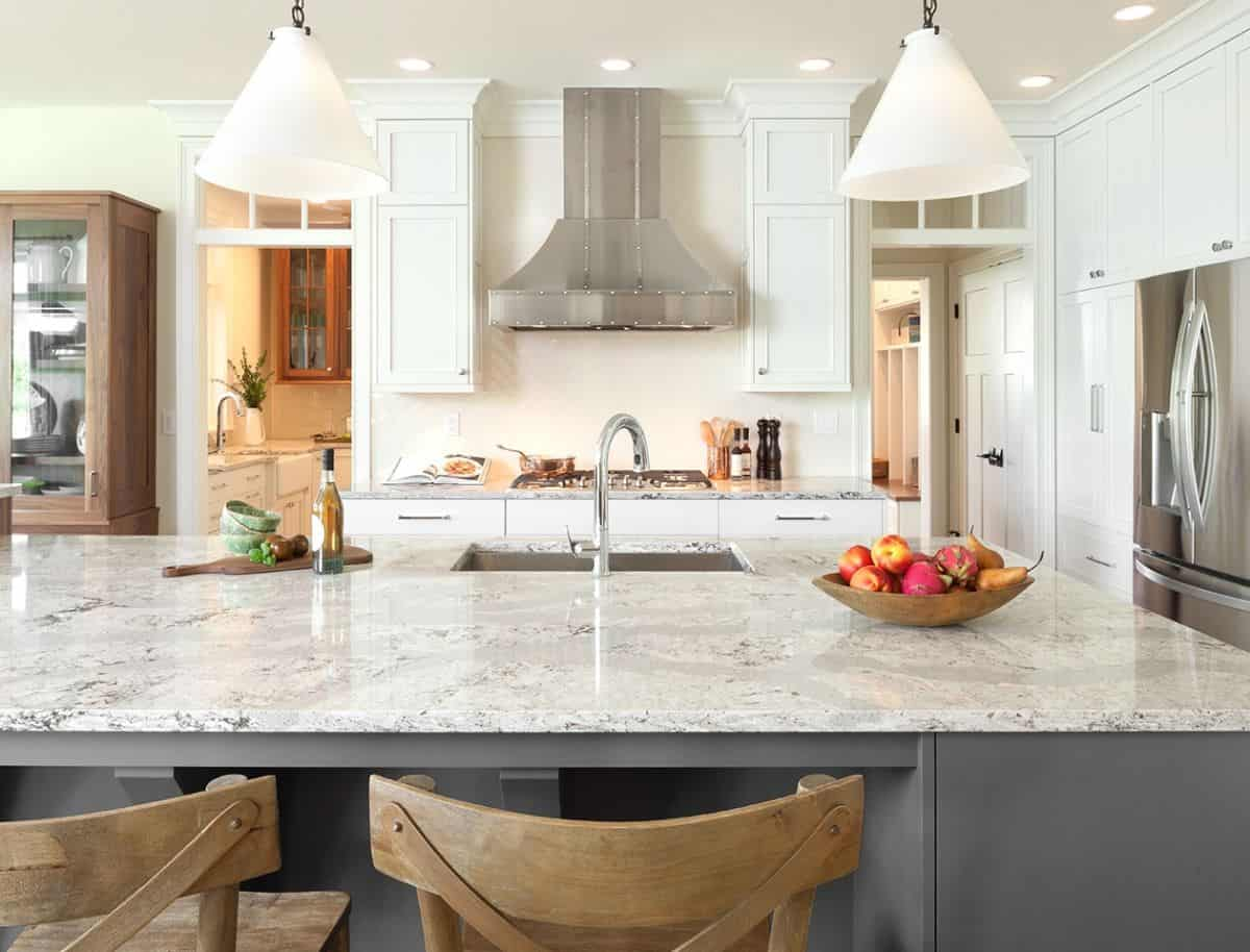 quartz kitchen Stylish Kitchens That Scream Timeless