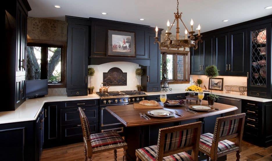 regal kitchen black cabinets