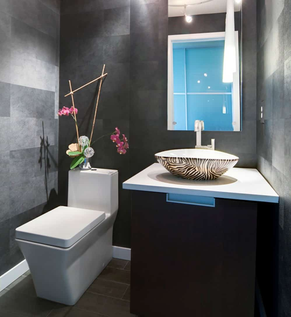 unique sink powder room