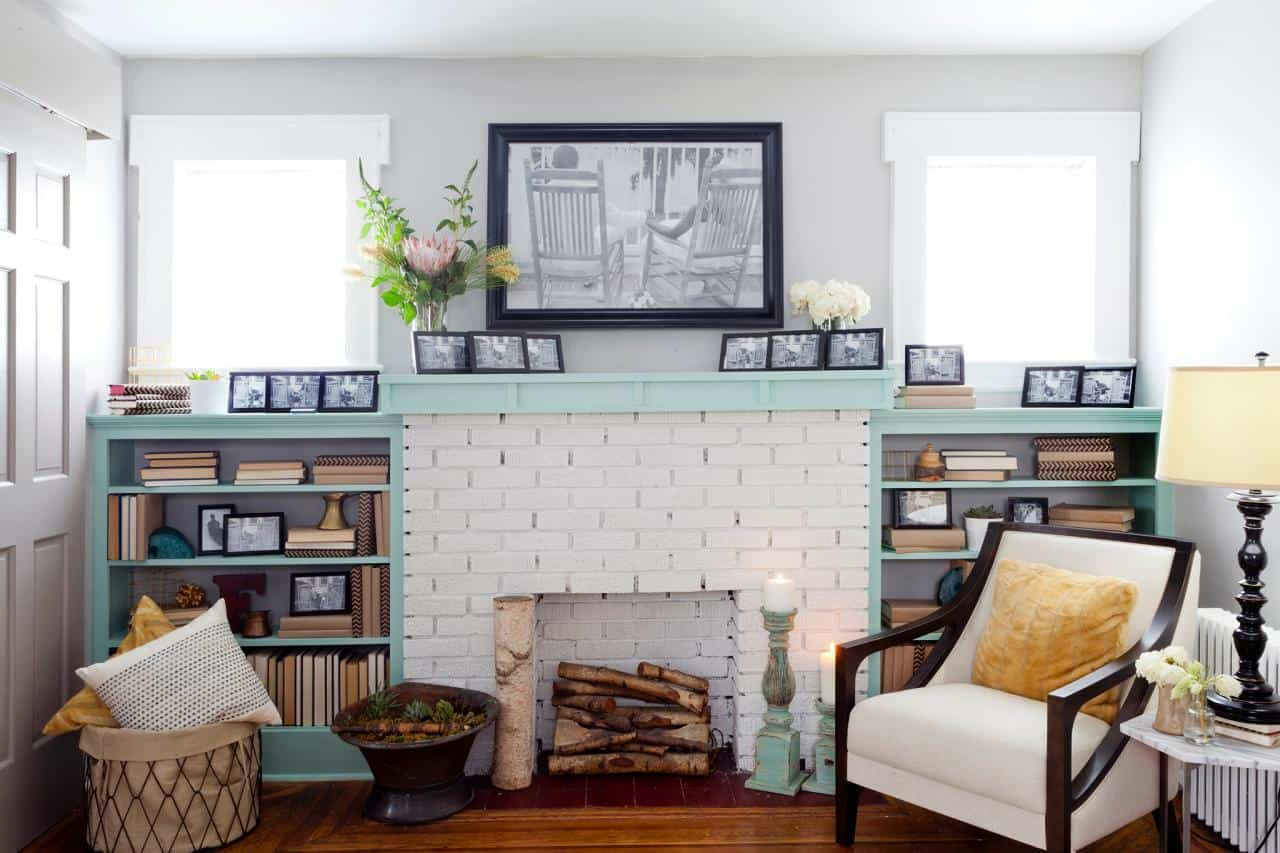 white out fireplace