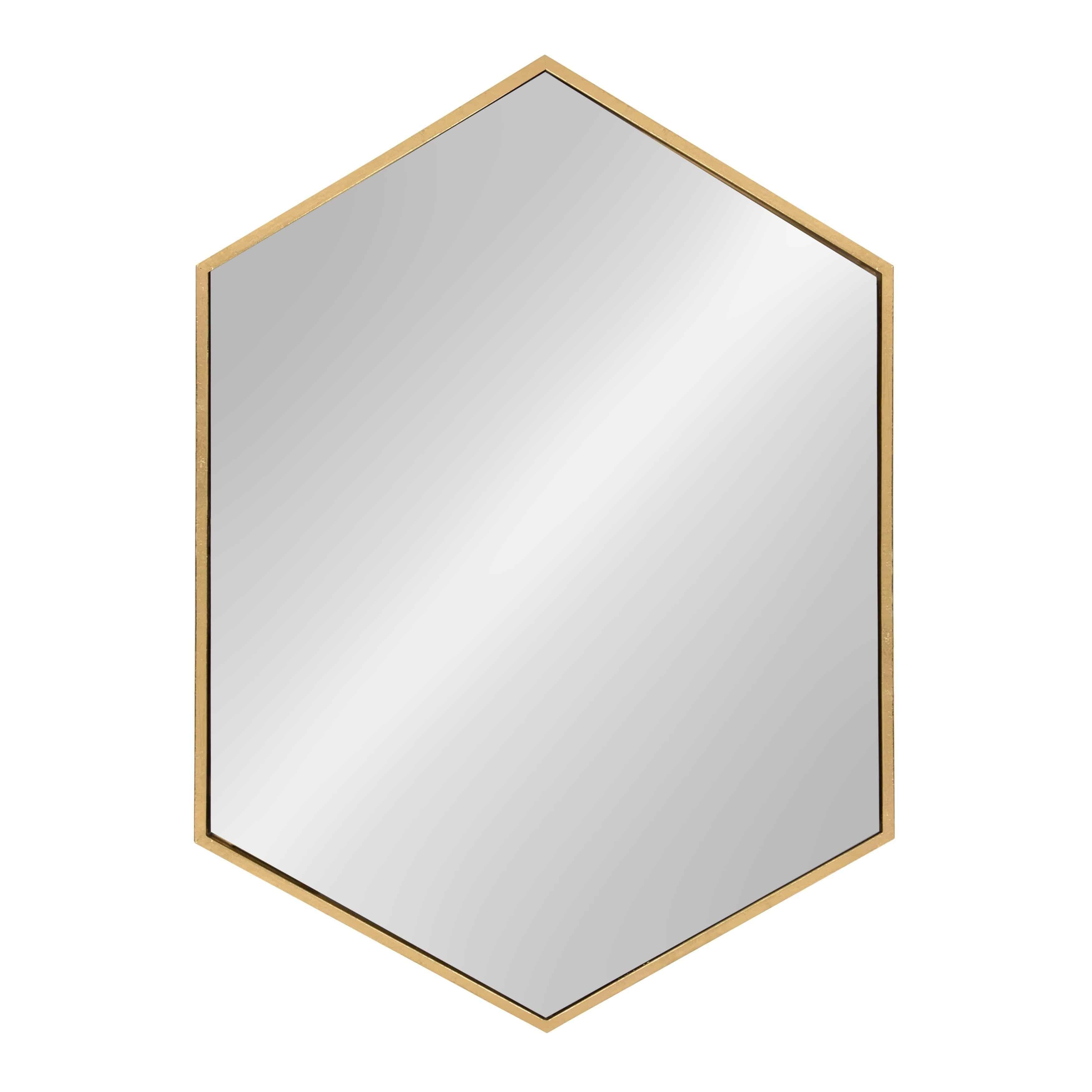 Kate-and-Laurel-McNeer-Large-Hexagon-Metal-Wall-Mirro