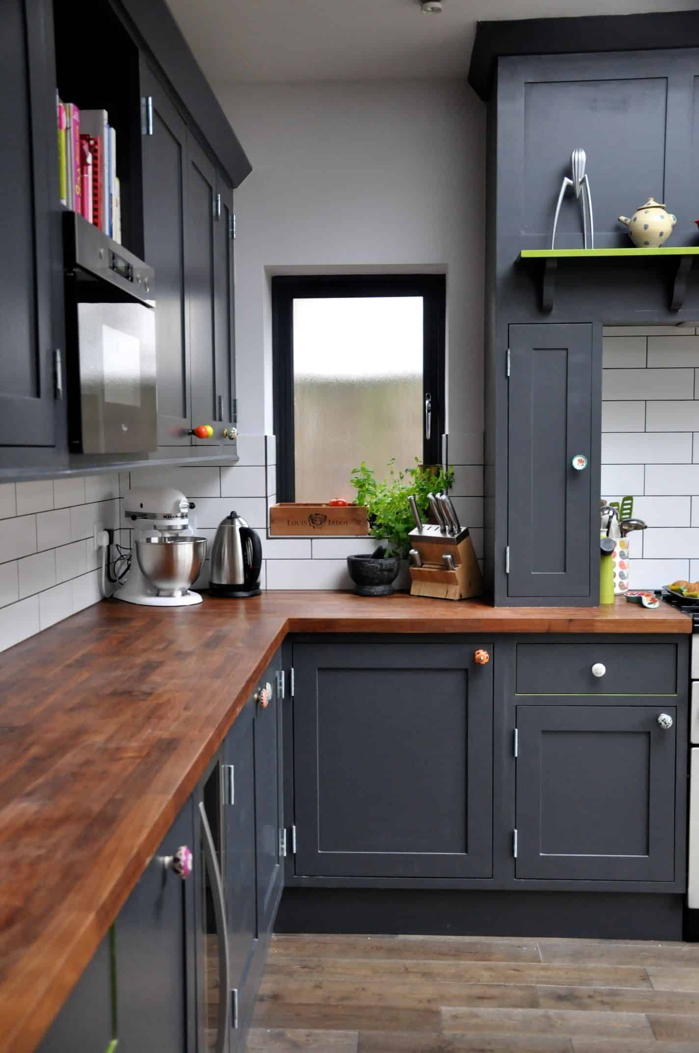 charcoal gray kitchen Tiny Kitchens You Are Sure To Love