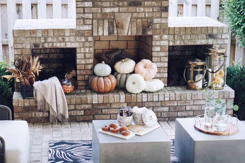 fireplace outside