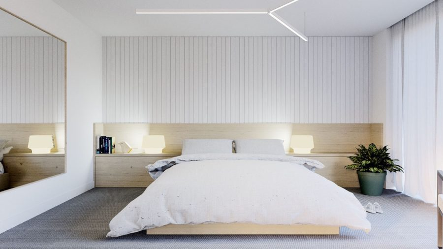 minimal modern bedroom 900x506 15 Tips For Decorating A Modern Bedroom