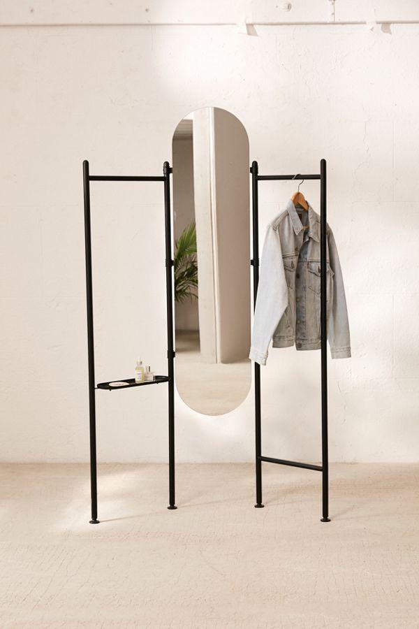 mirror storage rack