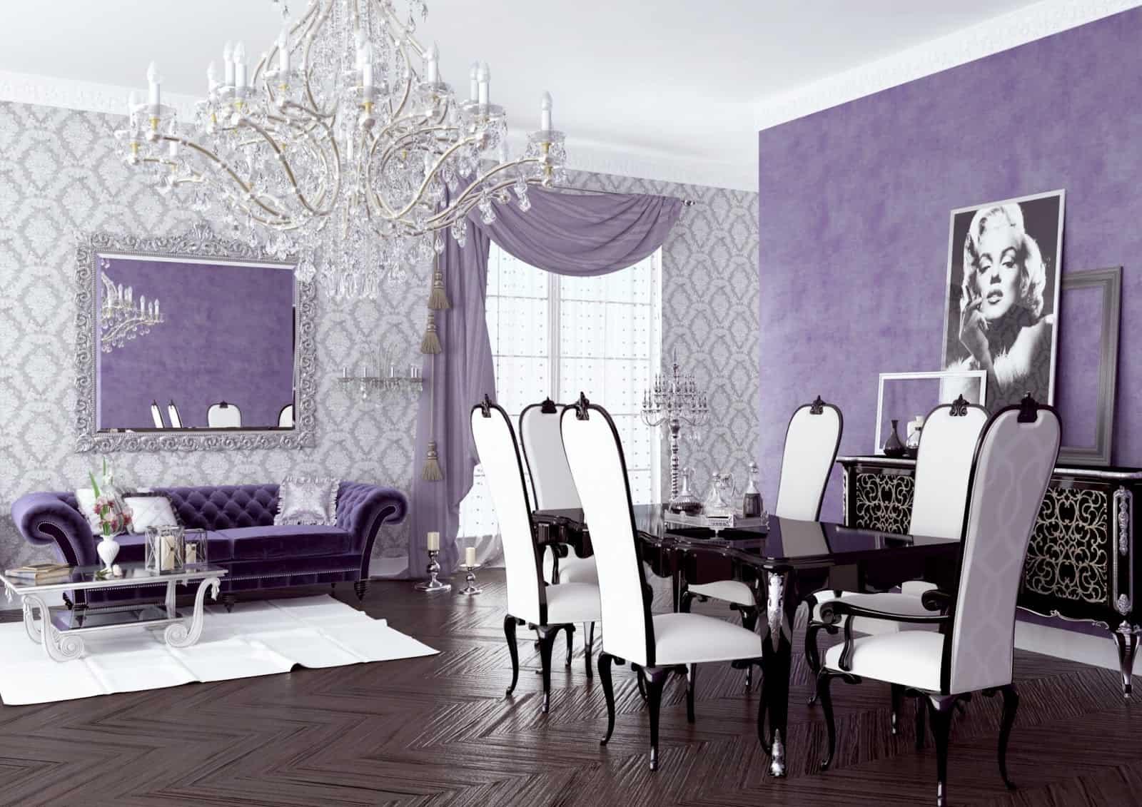 multiple shades of purple