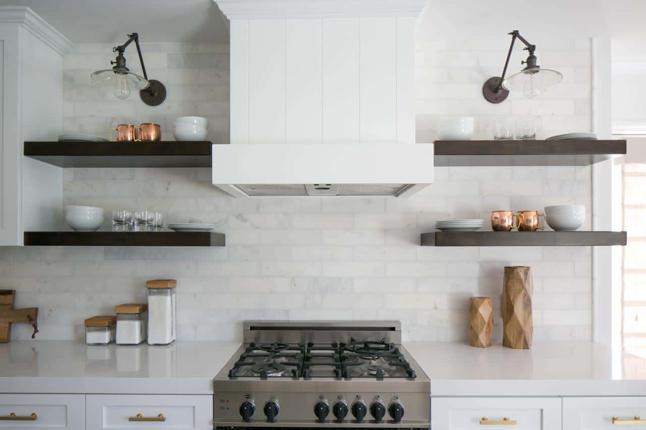 open shelving simple Chic Kitchens With Open Shelving