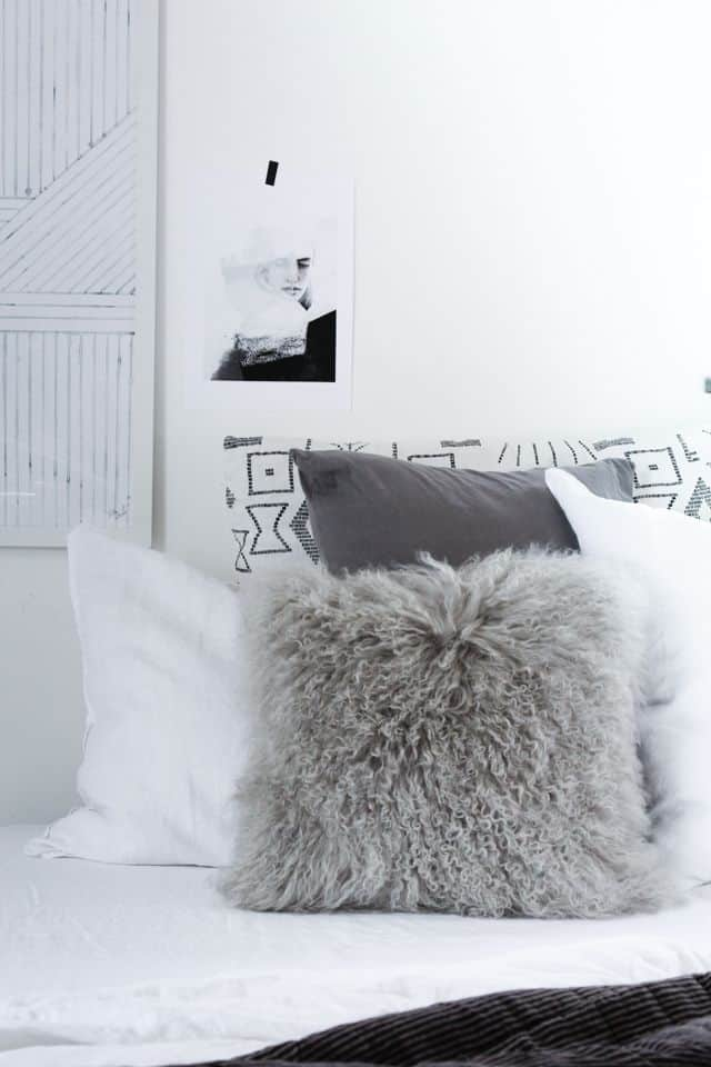 overfill throw pillows modern bedroom