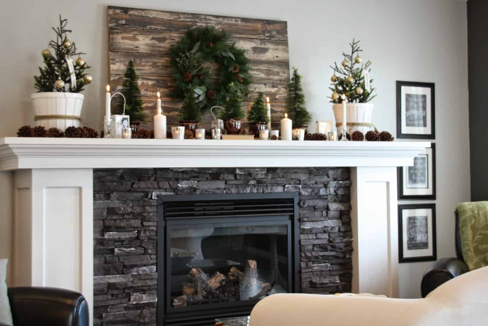 refined and simple mantel How To Bring Christmas Cheer To Your Mantel