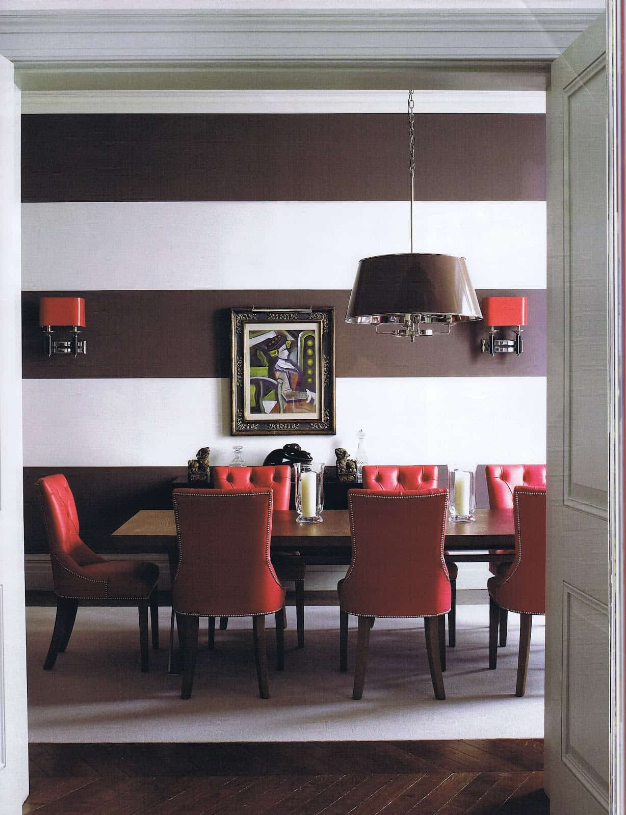 ruby tones in dining room 11 Beautiful Fall Color Schemes You Will Want To Try