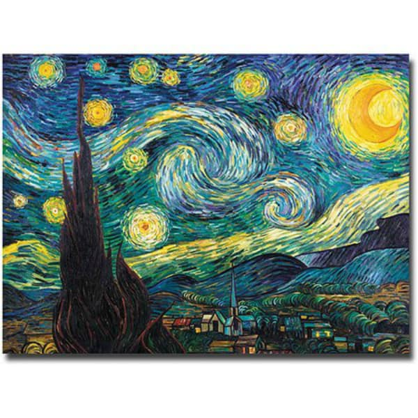 starry night canvas art-2