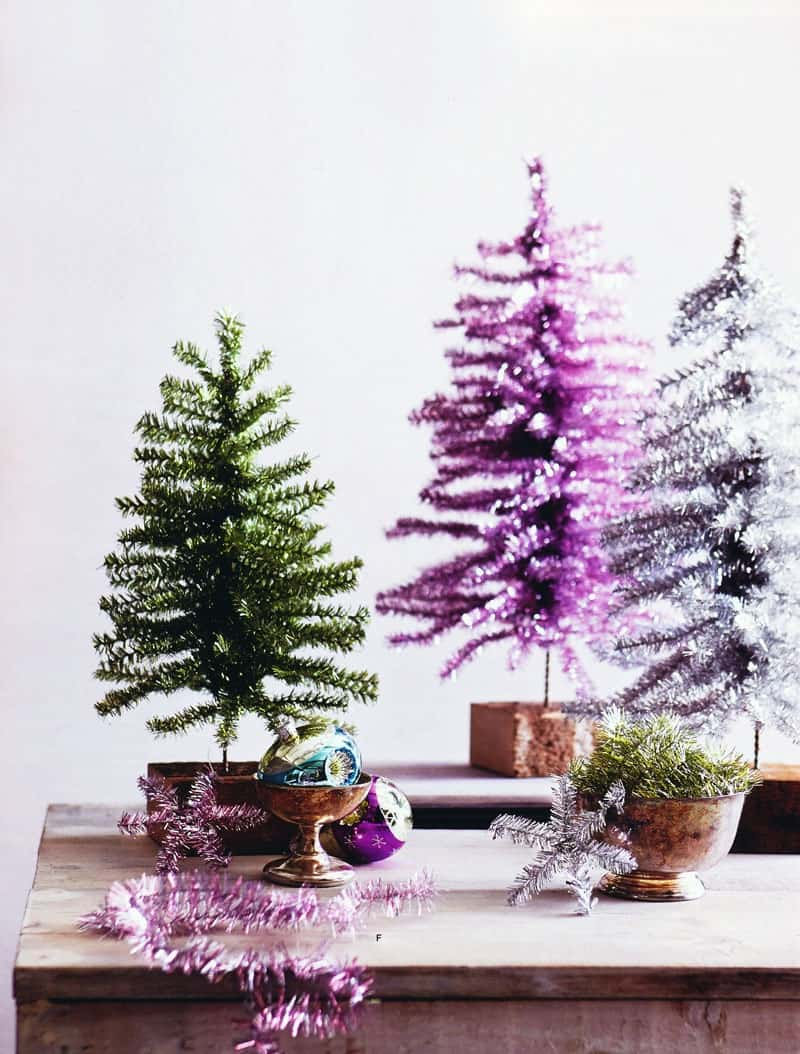 tinsel christmas treees
