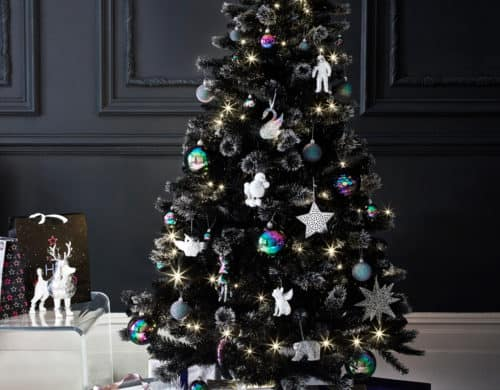Black Christmas Trees That Bring A Daring Twist To Your Decor