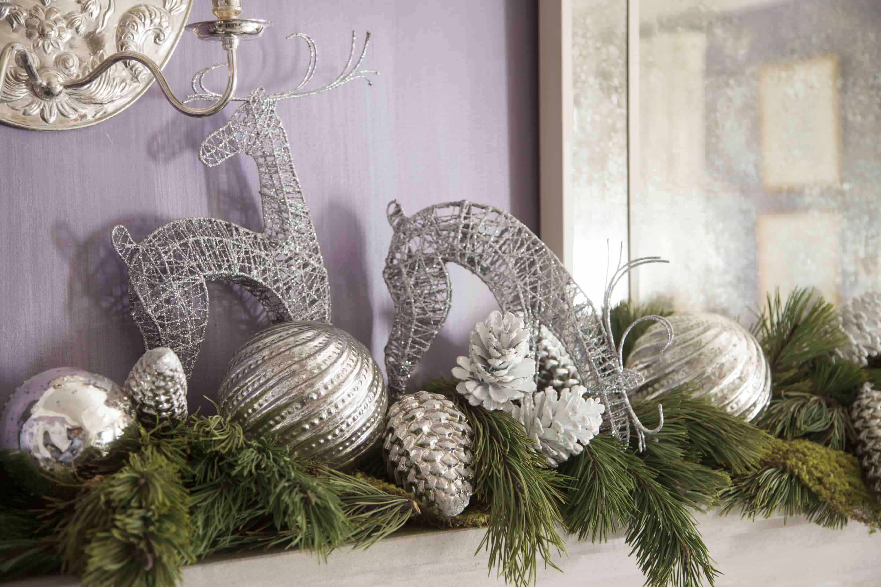 garland with ornaments