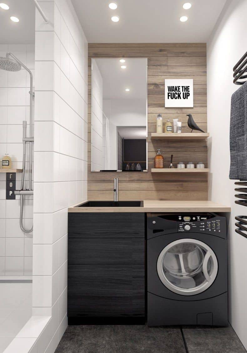laundry room with sink 22