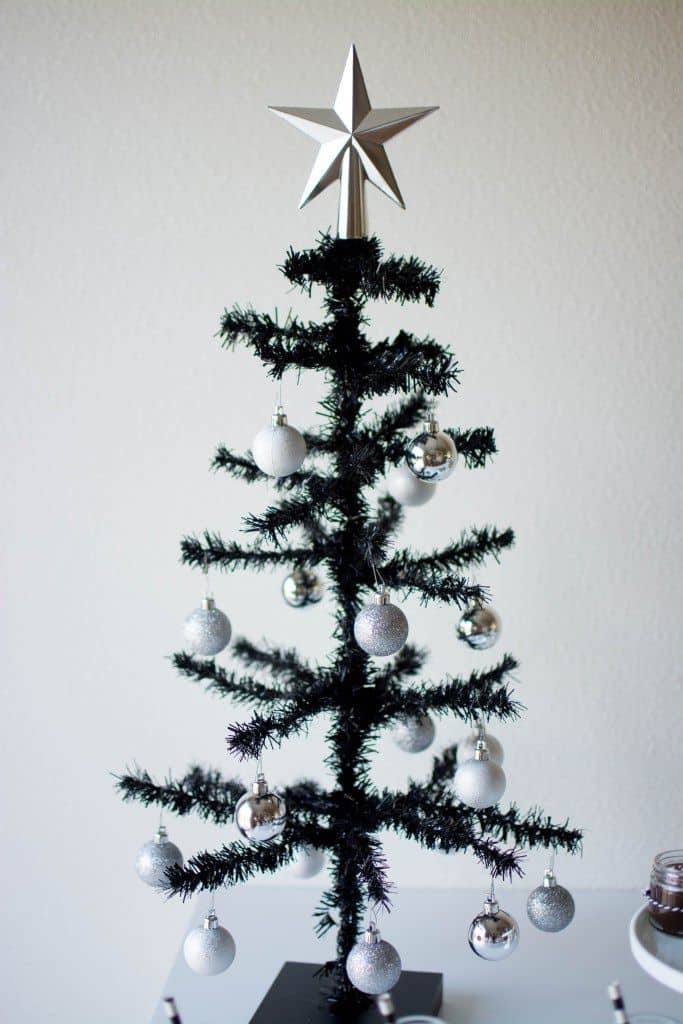 tiny christas tree black