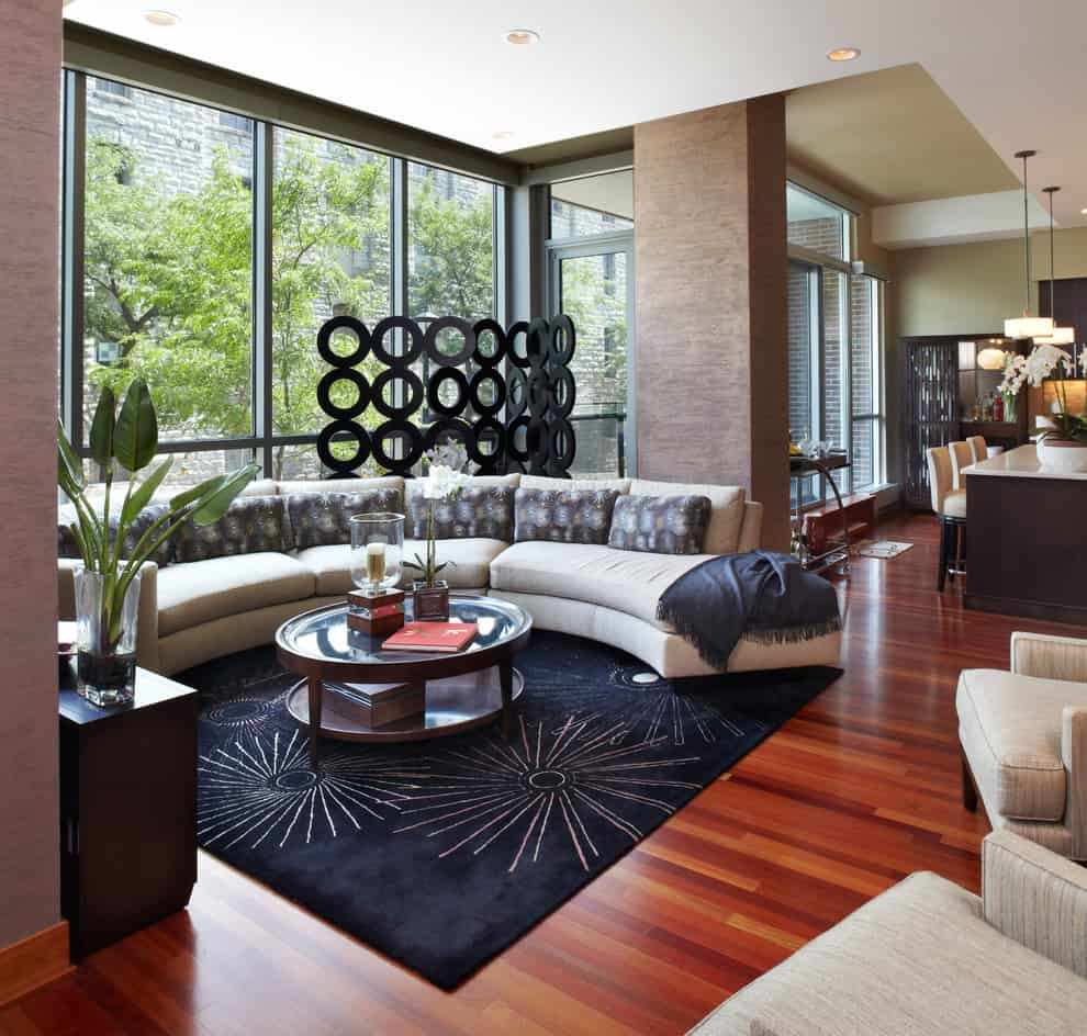 black oak living room