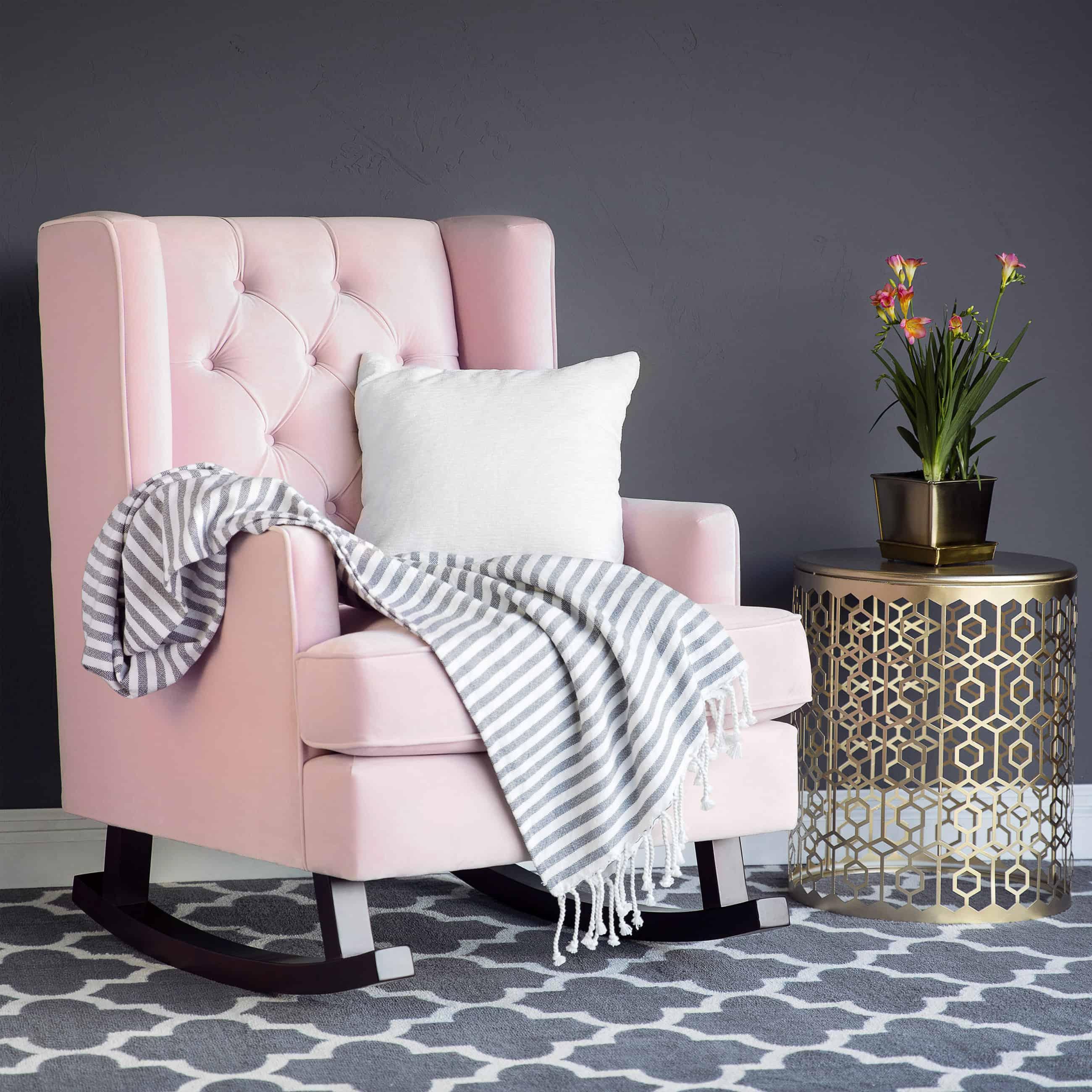 blush accents chair