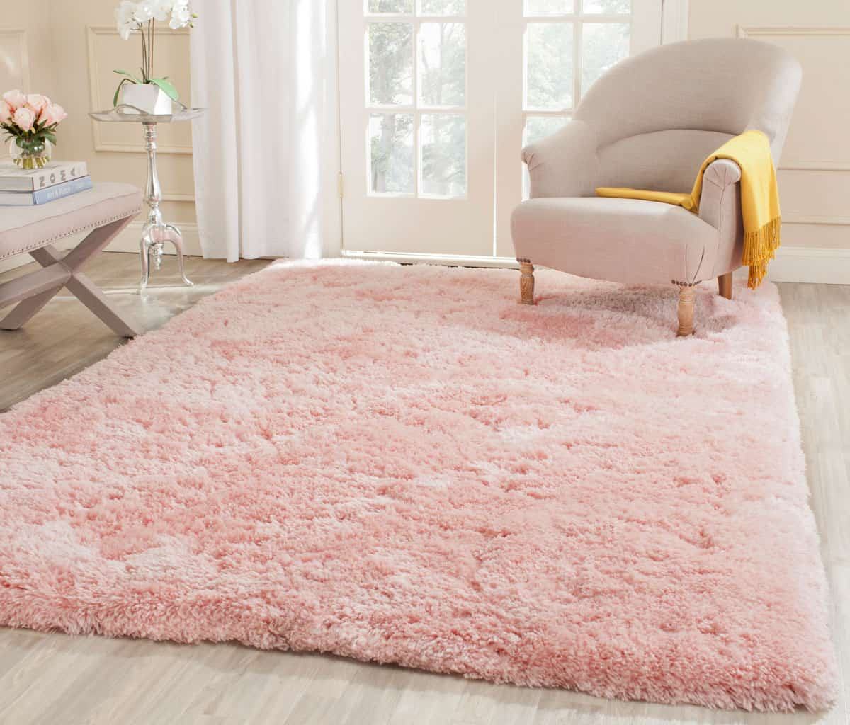 blush pink rug Blush pink accents that are completely taking over the design world