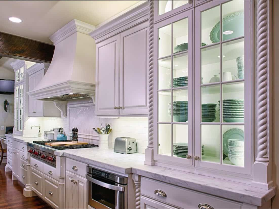 glass front cabinets