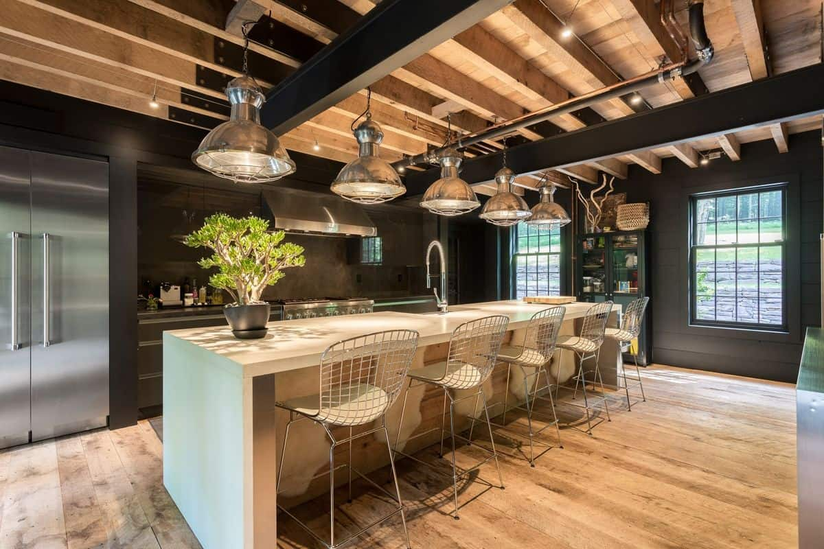 industrial kitchen with cieling