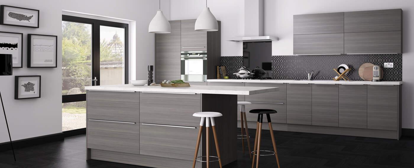 matte grey cabinets