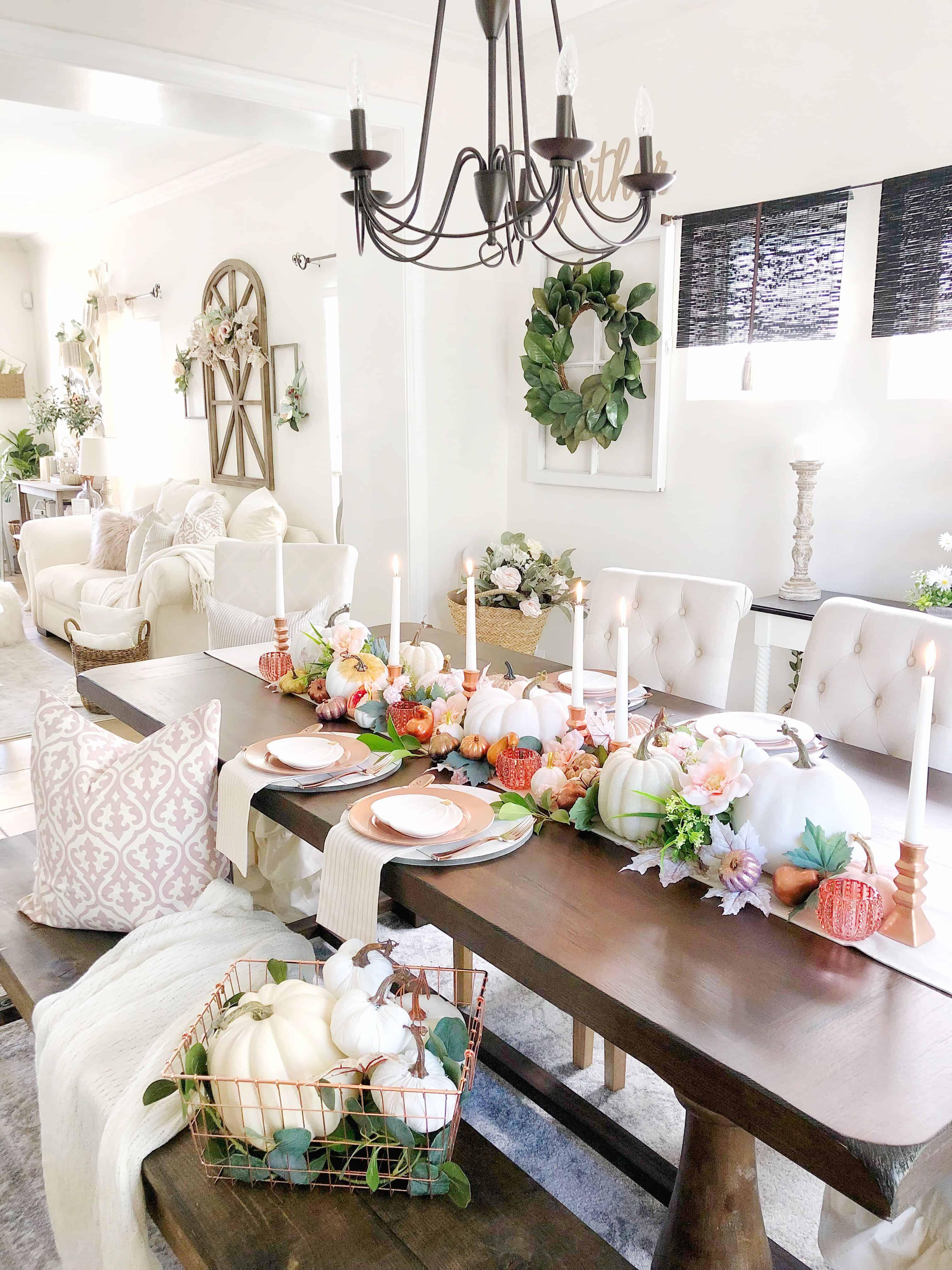 metallics white kitchen