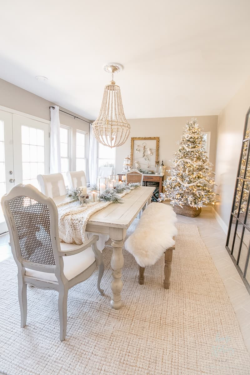 neutrals in white dining room