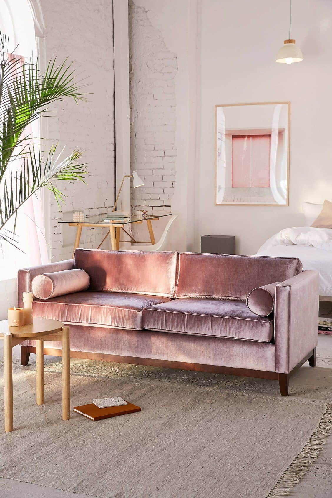 velvet sofa bedroom