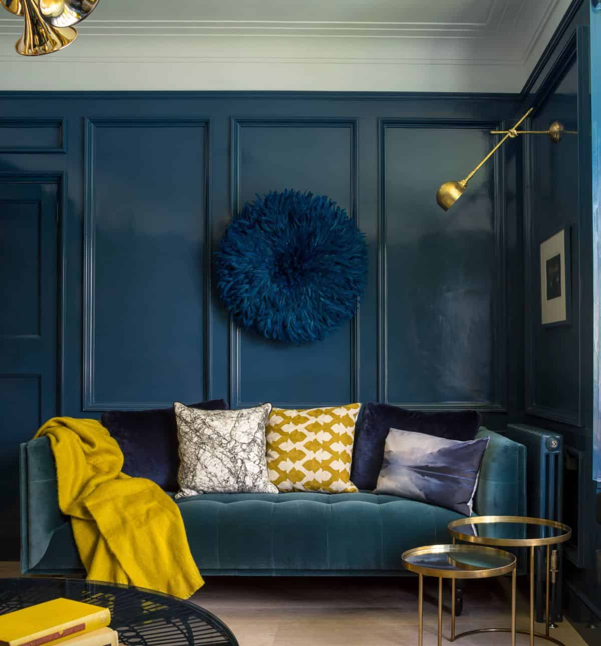 blue and yellow living room Enchanting Ways To Transform Your Living Room With Color