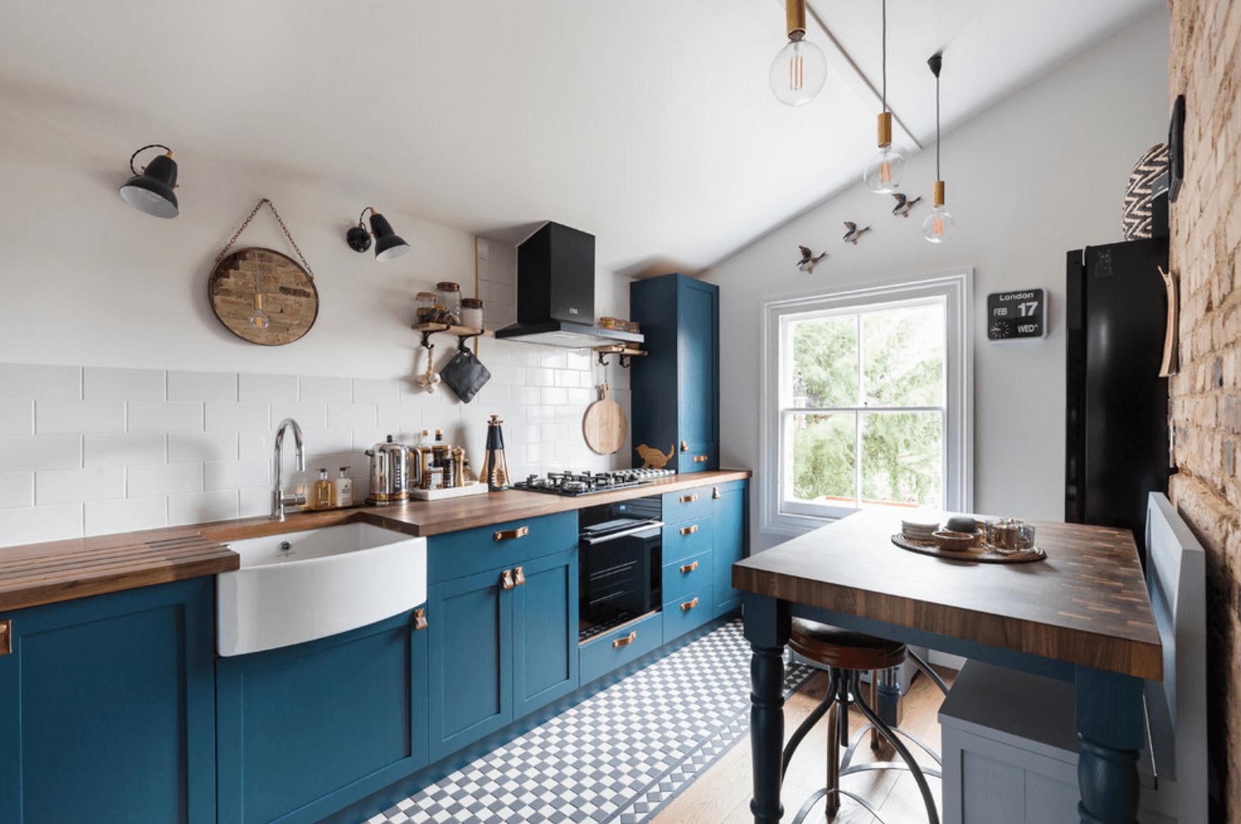 boho simple kitchen