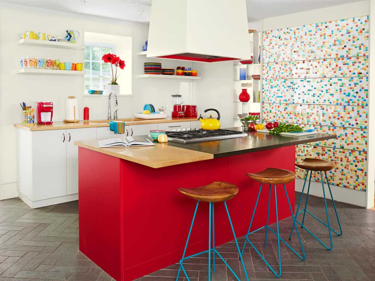 colorful hippie kitchen