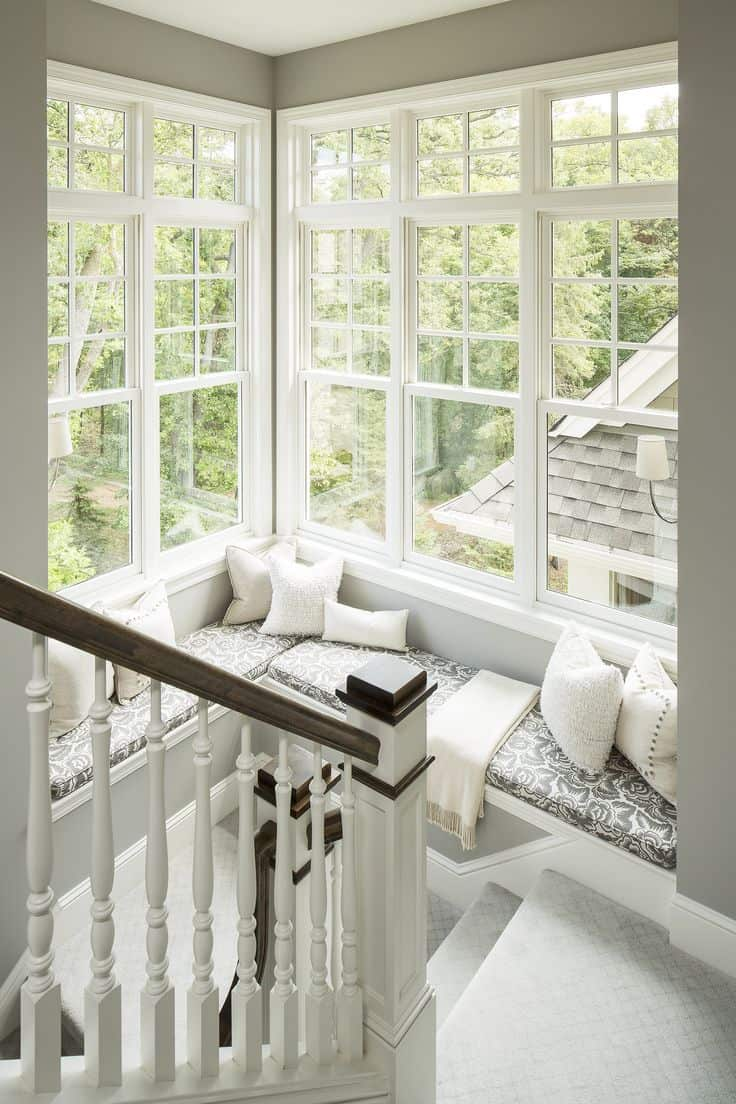 corner window seating Charming Window Seat Ideas That Bring The Outside In