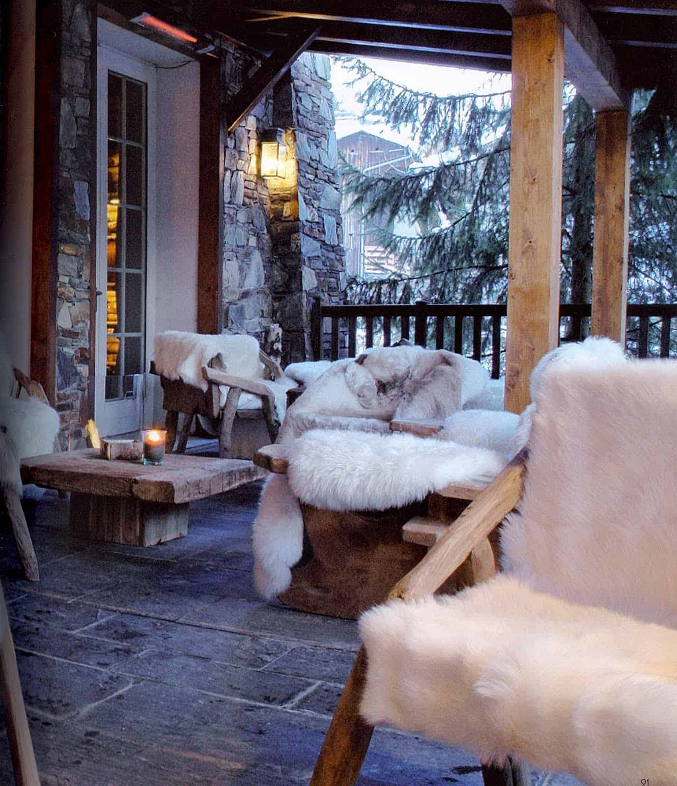 cozy winter deck